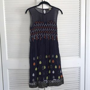 Unique fun embroidered cocktail dress!